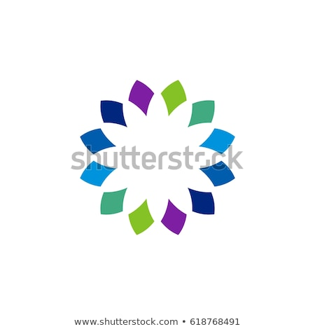 colorful flower logo with petals stock photo © sarts