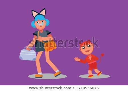 Cartoon devil girl for you design Stock photo © jawa123