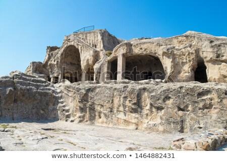 famous uplistsikhe cave georgian republic stock photo © joyr