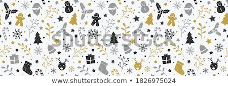 Stock photo: Snowflakes Seamless Pattern Vector In Flat Design