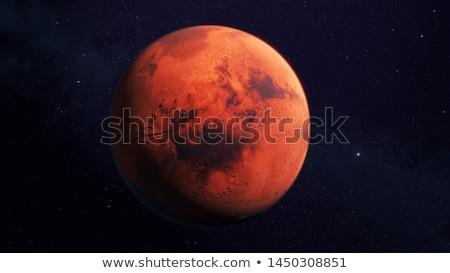 Planet Mars on a black background Stock photo © Noedelhap