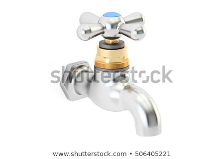 vízcsap · izolált · vadvízi · csap · fehér · víz - stock fotó © iserg