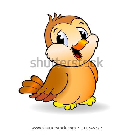 スズメ 自然 草 ツリー 背景 鳥 ストックフォト © mariephoto