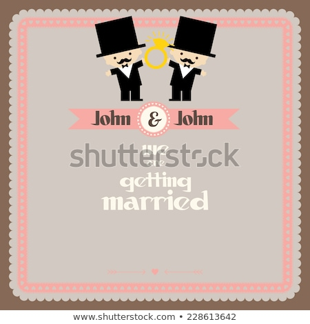 Cravatta nodo anelli matrimonio gay corda Foto d'archivio © albund
