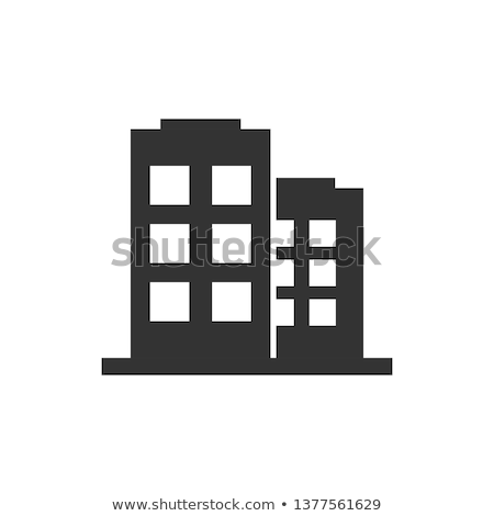 Modern stílusú irodaház illusztráció iroda épület terv Stock fotó © bluering