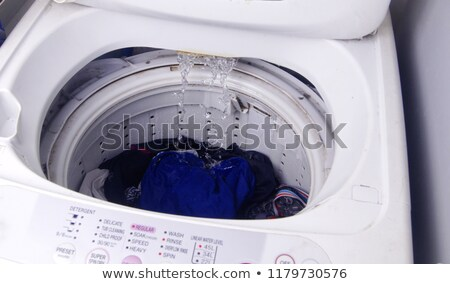moderno · máquina · de · lavar · roupa · 3d · render · aço · inoxidável - foto stock © albund