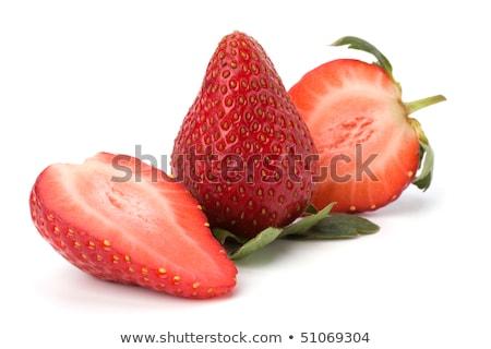 Fresche fragole piatto bianco alimentare frutta Foto d'archivio © Digifoodstock
