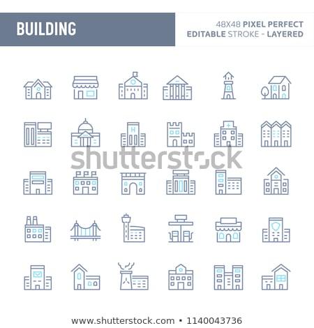 Ziekenhuis complex icon ontwerp geïsoleerd gebouw Stockfoto © WaD