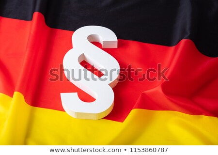 paragraph symbol and german flag - 3d rendering Stock photo © drizzd