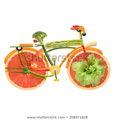 Ville vélo fruits légumes forme urbaine Photo stock © Fisher