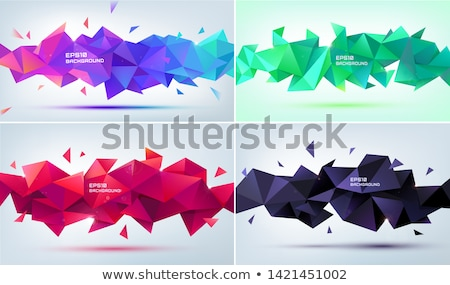 red black low poly triangles mosaic background stock photo © saicle