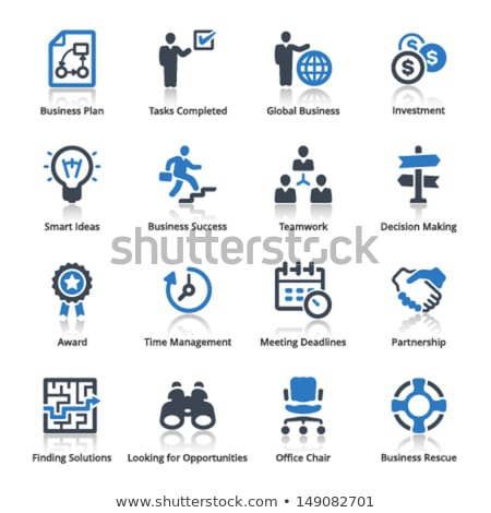Office icon set 3 Stock photo © ordogz