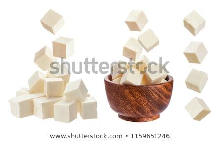 feta cheese cube stock photo © grafvision