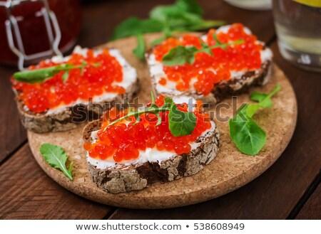 red caviar canape stock photo © digifoodstock