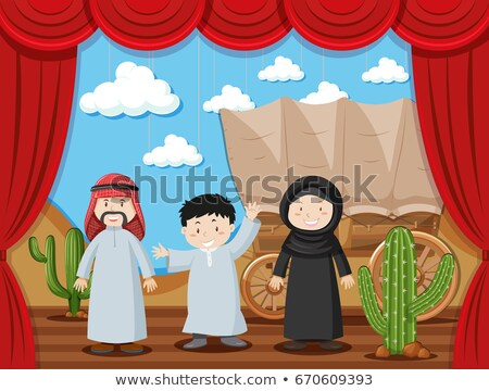 Arab family on stage Stock photo © bluering