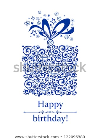 boldog · születésnapot · kártya · sablon · sajttorta · illusztráció · papír - stock fotó © bluering
