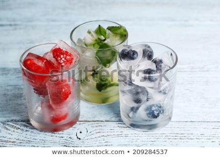 水 果物 アイスキューブ フルーツ ドリンク カクテル ストックフォト © M-studio