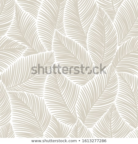 Seamless pattern with gray leaves on white background Stock photo © BlueLela