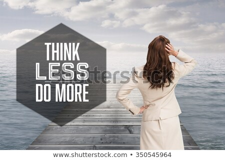 rear view of woman standing on shore against clear sky stock photo © wavebreak_media