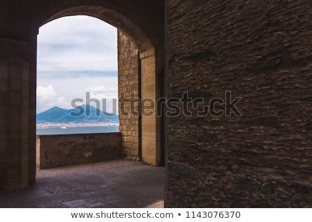 Foto d'archivio: Castello · Napoli · Italia · dettaglio · isola · view