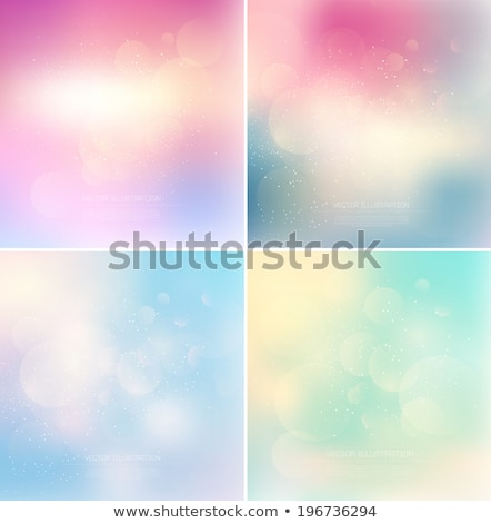 Pale pink blue abstract with bokeh lights blurred background  Stock photo © TasiPas