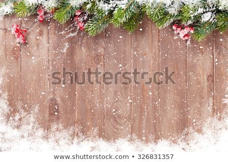 Stok fotoğraf: Rustik · ahşap · Noel · süslemeleri · renkli · mutlu