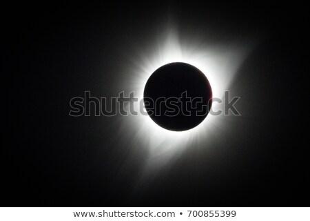 太陽 · 日食 · 暗い · 空 · 表示 · 宇宙 - ストックフォト © davidgn