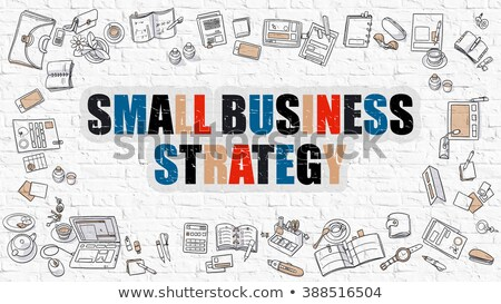 Multicolor Business Growth Strategy on White Brickwall. Stock photo © tashatuvango