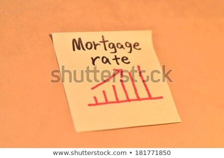 Newspaper Mortgage Rate Stock photo © devon