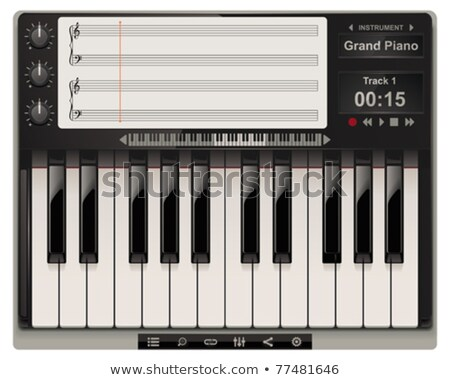vector grand piano xxl icon stock photo © tele52