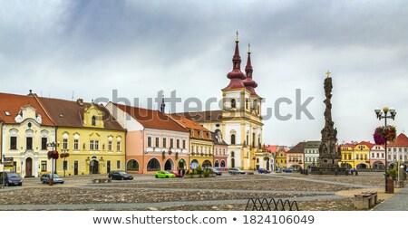 święty krzyż kościoła Czechy główny placu Zdjęcia stock © borisb17