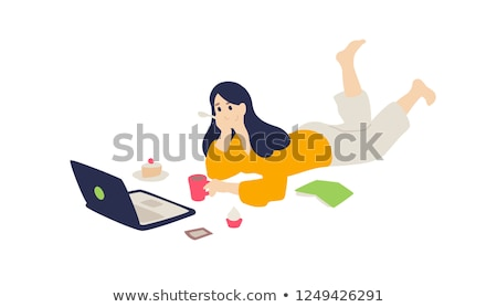 Girl surfing the internet. Stock photo © lichtmeister