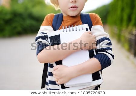 Okul mesafe çocuklar yol vektör Stok fotoğraf © robuart