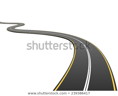 Curva preto estrada branco caminho horizonte Foto stock © SArts