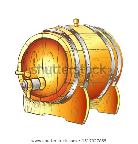 Vintage Drawn Barrel With Tap For Liquid Color Vector Stock photo © pikepicture