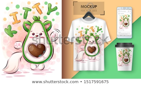 Kitty avocado poster and merchandising Stock photo © rwgusev