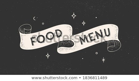 Flag Food and Drink . Old school flag banner with text Stock photo © FoxysGraphic