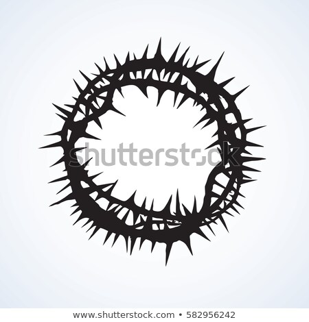 crown of thorns jesus christ top view ink vector stock photo © pikepicture