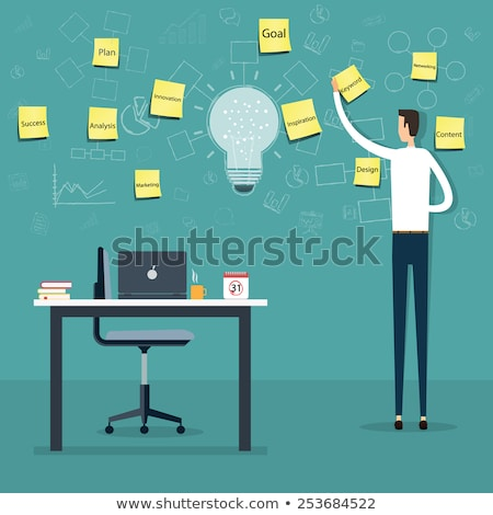 teamwork how to write business plan worker vector stock photo © robuart