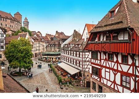 表示 ドイツ 歴史的 センター 城 壁 ストックフォト © borisb17