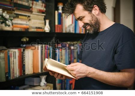 зрелый человек книга книжный магазин счастливым мужчин Сток-фото © HighwayStarz