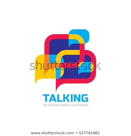 Dialog ilustracja rozmowy człowiek projektu tle Zdjęcia stock © orson