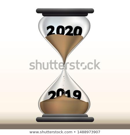 Año tiempo verde número texto superior Foto stock © make