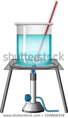 ビーカー 計 燃焼 スタンド 実例 水 ストックフォト © bluering