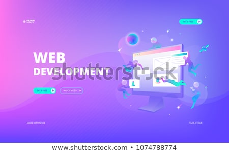 Web development vector concept metaphors Stock photo © RAStudio