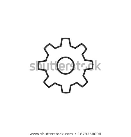 Cog icône symbole stock isolé Photo stock © kyryloff