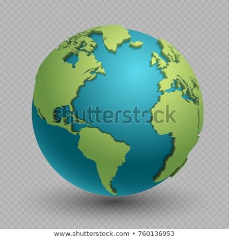 3D 地球 青 白 デザイン 世界 ストックフォト © chrisroll