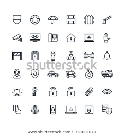 Alarm Signal Control Icon Vector Outline Illustration Stock photo © pikepicture
