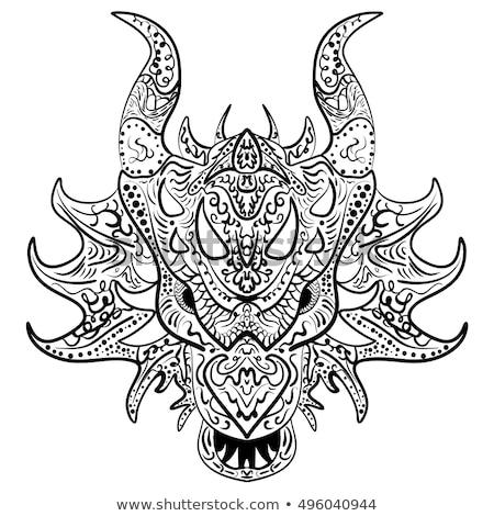 Zentangle dragon head. Hand drawn decorative vector illustration for coloring Stock photo © Natalia_1947