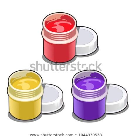 Conjunto abrir plástico colorido pintar isolado Foto stock © Lady-Luck